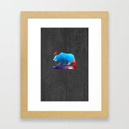 California State Bear (fractal colors) Framed Art Print