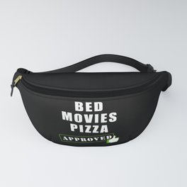 Pizza Movies Bed Fanny Pack