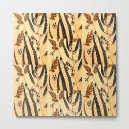 Golden Eucalyptus Metal Print