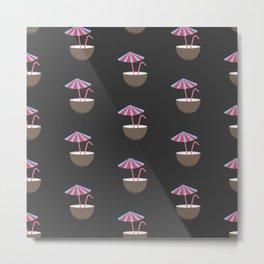 Coconut Pattern Metal Print