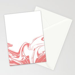 Color drop in water in motion. Ink swirling.  Stationery Cards