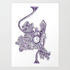 Doodle Blue Art Print