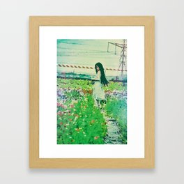 """A Flower Does Not Think Of Competing To The Flower Next To It. It Just Blooms"" Framed Art Print"