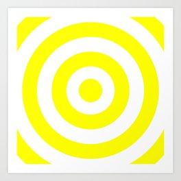 Target (Yellow & White Pattern) Art Print