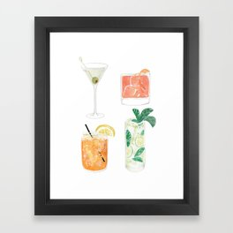 Colorful cocktails Framed Art Print