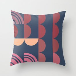 Hedgehog abstract geometric pattern with colorful shapes 206 Throw Pillow
