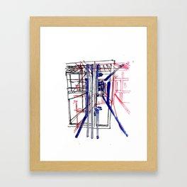 Ici et là n°2 Framed Art Print
