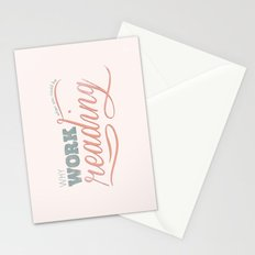 Why Work?  Stationery Cards