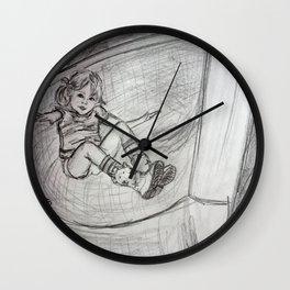 Spiral Slide Swirl Drawing Wall Clock
