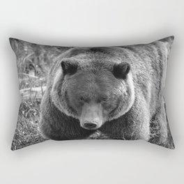 Grizzly Bear - B & W Rectangular Pillow