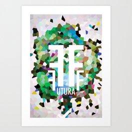 Perception Experiment 002 Futura Condensed Art Print