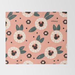 """Minnie Mouse Daisies"" by Hollis Callas Throw Blanket"