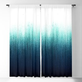 Teal Ombré Blackout Curtain
