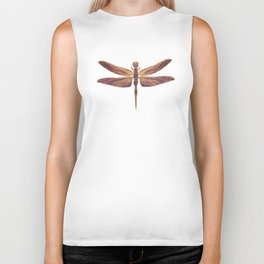 Art Nouveau Dragonfly In Purple Biker Tank