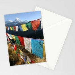 Tibetan prayer flags in Himalaya mountains Stationery Cards