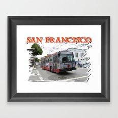 San Francisco Fillmore Street Framed Art Print