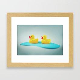 Rubber ducks Framed Art Print