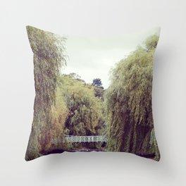 Park Bridge. Throw Pillow