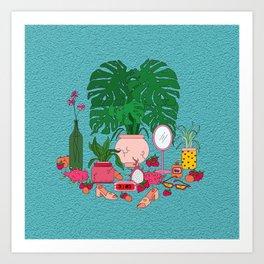 Peaches & Cream Art Print