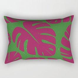 Monstera Leaf Print 4 Rectangular Pillow