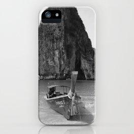 Black and White Krabi beach iPhone Case