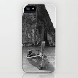 Black and White Krabi beach iPhone Case