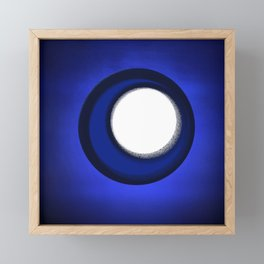 BLUE TEXTURE AND SHAPES Framed Mini Art Print