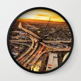 los angeles junction Wall Clock
