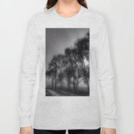 Shadows And Tall Trees - Black And White Long Sleeve T-shirt