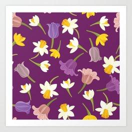 Tulips & Daffodils Art Print