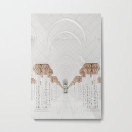 Grand Mosque Abu Dhabi Metal Print
