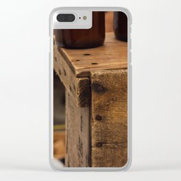 Wooden Crate - Seattle, WA Clear iPhone Case