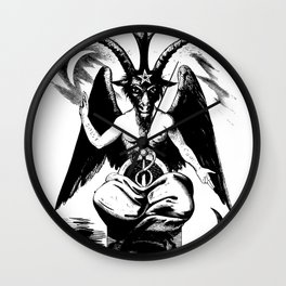 BAPHOMET by ELIPHAS LEVI Wall Clock