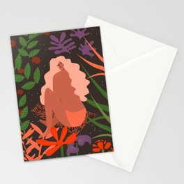 Girl in Botanic Garden Stationery Cards