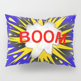 Boom Cartoon Bubble Pillow Sham