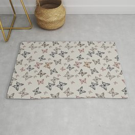 Butterfly kisses repeating pattern Rug
