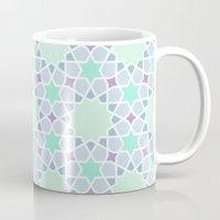 arabic Mugs featuring Arabic pattern by tuditees