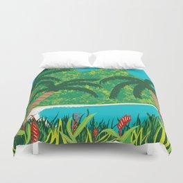 Tropical Island Getaway Duvet Cover