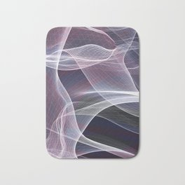 Moody & Beautiful Smoky lacy flux - black, blue, pink #abstractart Bath Mat