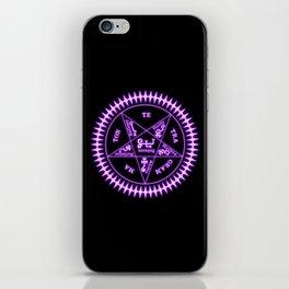 Sebastian Michaelis Sigil Light (black bg) iPhone Skin