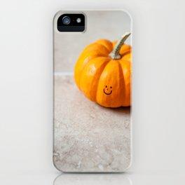Smile. It's pumpkin time! iPhone Case