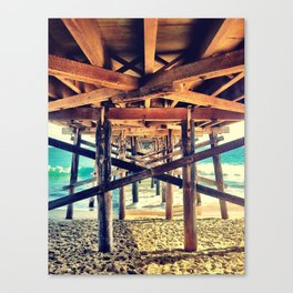 Under the Pier- Landscape Canvas Print