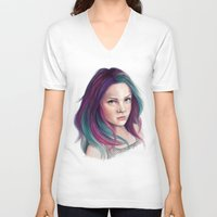 sandman V-neck T-shirts featuring Delirium by Laura MSS