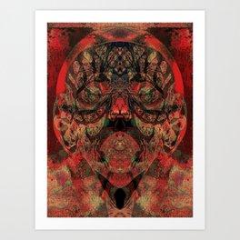 Tribal Face Art Print