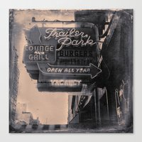 trailer park boys Canvas Prints featuring Trailer Park Lounge by Adam Metzner
