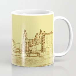 Albert Dock, Liverpool (Digital Art) Coffee Mug