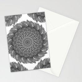Mandala Leaf Universe Meditation Stationery Cards