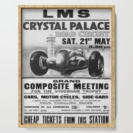 retro monochrome Crystal Palace Serving Tray