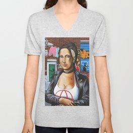 Punk Mona Lisa Unisex V-Neck
