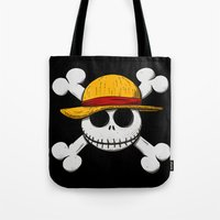 luffy Tote Bags featuring Jack Luffy by le.duc